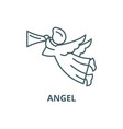 angel line icon angel outline sign vector image