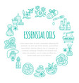 Aromatherapy and essential oils brochure template