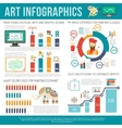 Art Infographics Set vector image vector image