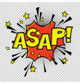 asap comic sound comic speech bubble halftone vector image vector image