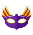 beautiful mask icon flat style vector image
