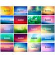 big set of 20 horizontal wide blurred nature vector image vector image