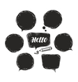 Black speech bubble set Doodle vector image