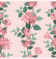 blooming flowers seamless pattern on pastel mood vector image vector image