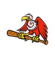 californian condor baseball mascot vector image vector image