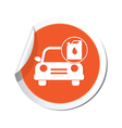 cars oil canister ORANGE LABEL vector image vector image