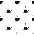 Coffee cup icon in black style isolated on white vector image vector image