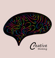 colorful creative brainsmart brain logosign of vector image