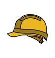 Cute builder helmet isolated icon