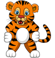 cute young tiger cartoon expression vector image vector image