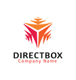 Direct Box Design vector image vector image