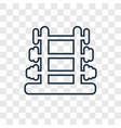 dumbbell concept linear icon isolated on vector image vector image