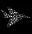 flare mesh 2d intercepter plane with flare spots vector image vector image