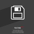 floppy disk icon symbol Flat modern web design vector image