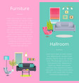 furniture and hallroom posters vector image vector image