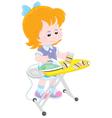 Girl irons socks vector image vector image