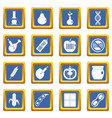 gmo icons set blue vector image vector image