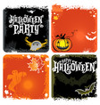 halloween set of backgrounds with lettering vector image vector image