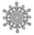 Hand-drawn doodles natural snowflake Zentangle vector image