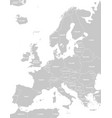 high quality europe map with white country borders vector image vector image