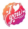 i love you logo badge vector image