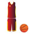 isolated basketball ball vector image vector image