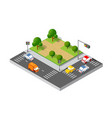 isometric 3d trees vector image vector image