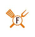 logo restaurant letter f vector image vector image