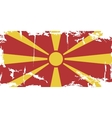 macedonian grunge flag vector image vector image
