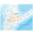 map north japanese island hokkaido vector image vector image
