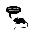 mouse silhouette vector image vector image