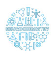 neurochemistry round blue in vector image vector image