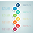 Number Steps Inforgraphic 7 vector image