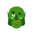 ogre winking emoji goblin happy emotion isolated vector image vector image