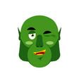 ogre winking emoji goblin happy emotion isolated vector image