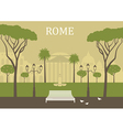 Park in Rome vector image