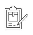 pencil checking list about parcel box on vector image