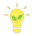 plant growing inside the light bulb energy saving vector image