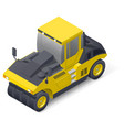 Pneumatic road compactor icon vector image