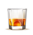 realistic scotch wiskey glass brandy vector image vector image