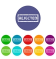 Rejected flat icon vector image vector image