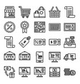 retail icons pack vector image vector image