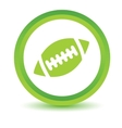 Rugby ball volumetric icon vector image vector image