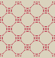 seamless pattern in asian style red and beige vector image