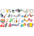 set music object vector image vector image