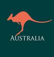sign silhouette kangaroo vector image vector image