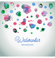 Spray paint watercolor splash background colorful vector image vector image
