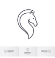 stylized horse head for mascot logo template on vector image