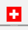 switzerland swiss national country flag banner vector image vector image