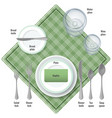 table etiquette instructions about use of all vector image vector image